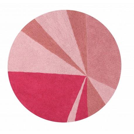 Alfombra Lavable Geometric Rosa