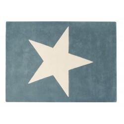 Alfombra de Lana Big Star Azul Vintage