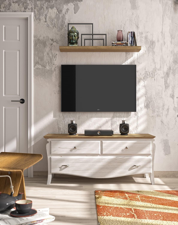 Mueble Bajo Cajones TV Mediterráneo MC013 Grupo Seys
